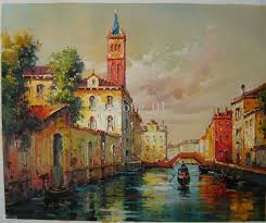 best painting impression vinice oil painting vinice scenery oil painting home