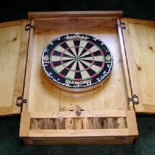 Dart Board Cabinet Plans Hand Made Dartboard Cabinet By Drawknife Custom Billiard Tables