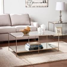 Glass And Gold Coffee Table Glass Coffee Console Sofa U0026 End Tables Shop The Best Deals For