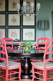 salmon or coral paint ideas dining room traditional with wall