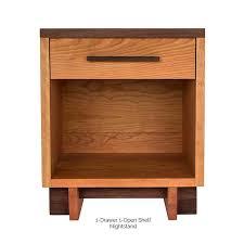natural solid wood bedroom furniture set modern american style