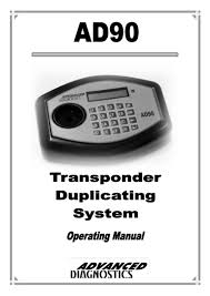 ad90 transponder key duplicator user manual