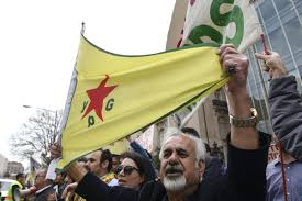 Rebel Syrian Flag Us Troops Wearing Ypg Patches In Syria Business Insider