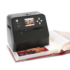 magnetic page photo album the rapid photo album scanner hammacher schlemmer