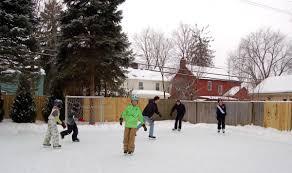 backyard hockey rinks range from simple to elaborate lifestyles