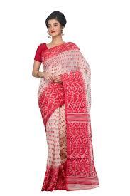dhakai jamdani saree buy online exclusive indian handloom sarees online