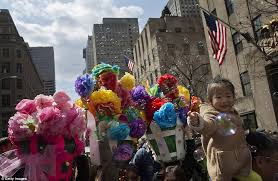 Flower Power Nyc - bizarre bonnets dominate new york city easter parade daily mail