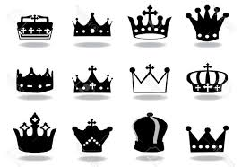 top king crown tattoo vector image clip art designs vectors