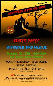 skywatch bird rescue postponed u2013 benefit party u2013 halloween is
