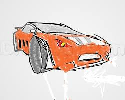 cartoon car drawing how to make a sports car step by step cars draw cars online