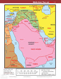 Middle Eastern Map Map U2013 Middle East Then And Now Reading The Bible