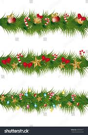 christmas garland with lights christmas garland balls lights vector stock vector 109509971
