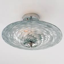 Ceiling Light Tornado Art Glass Ceiling Light In A Gray Blue And Clear Glass