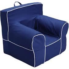 Pottery Barn Kids Oversized Anywhere Chair Large Blue White Trim Foam Chair Slip Co Walmart Com
