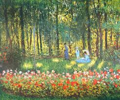 the artist s family in the garden 1875 claude monet wikiart org