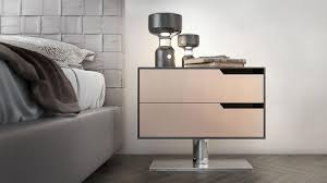 a glamorous multi function furniture design with metal nightstand