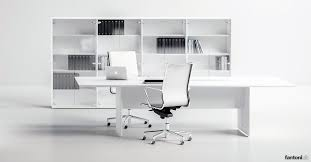 White Office Storage XL Glass Office Cabinet  FantoniUK - Office storage furniture