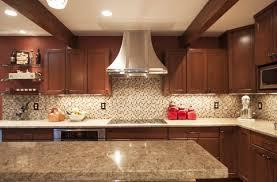 kitchen elegant kitchen glass backsplash cherry cabinets cambria