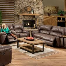 Reclining Sofa Microfiber by Stallion Saddle Reclining Set The Furniture Shack Discount