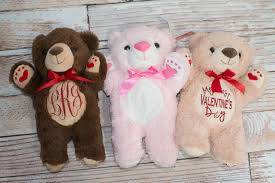 teddy valentines day personalized or my s day teddy for baby or