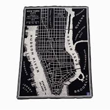 New York City Street Map by New York City Vintage Map Wool Throw U2013 The New York Public Library