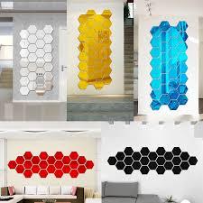 mirror decals home decor diy 3d acrylic modern mirror decal art mural wall sticker home