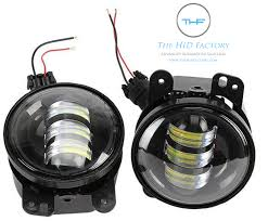 light gray jeep fog lights jeep led projector the hid factory