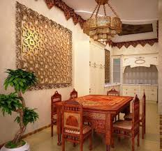 wall decor dining room furniture traditional moroccan dining room with brown mororcan