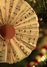 sheet music paper fan christmas ornaments yellow bliss road