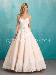 strapless sweetheart lace over ivory tulle princess ball gown