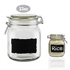 glass canisters kitchen chalkboard label glass jar canisters quality clear