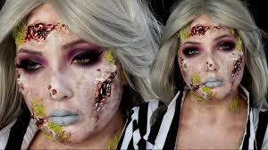 bug infested beetlejuice halloween makeup tutorial youtube