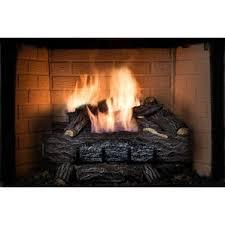 Dual Gas And Wood Burning Fireplace by Fireplace Log Sets You U0027ll Love Wayfair