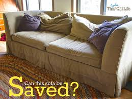 a diy sofa makeover