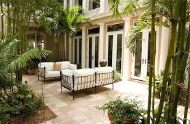bamboo tree backyard garden outdoor sofa modern home exterior details