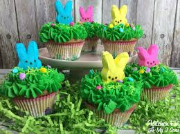 Decorating Easter Cupcakes With Peeps by Peeps Easter Bunny Cupcakes Kitchen Fun With My 3 Sons