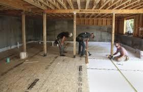 a basement floor without concrete jlc online concrete slabs