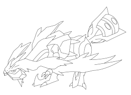 pokemon coloring pages white kyurem white kyurem lineart by smiley fakemon on deviantart