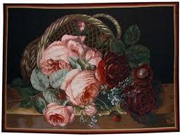 basket of flowers silk basket of flowers tapestry flowers tapestries