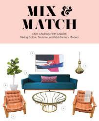 Challenge Mix Mid Century Modern Mix Match Style Challenge With Chairish