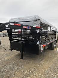cattle trailer lighted sign 2019 elite trailers 24x8 show stock trailer stock trailers and