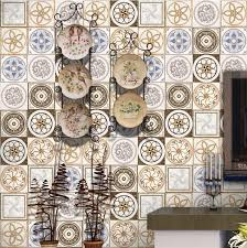 tile decals for kitchen backsplash 20cmx5m portuguese style gold floor tile stickers