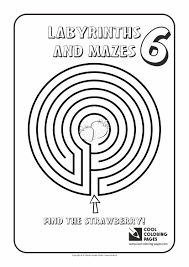 labyrinths and mazes cool coloring pages