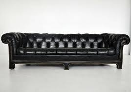 Chesterfield Black Sofa Leather Chesterfield Sofa At 1stdibs