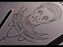 drawing caesar tattoo design youtube