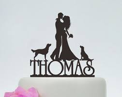 custom wedding cake toppers and groom dog cake topper etsy