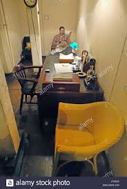 War Cabinet Ww2 Bedroom With Desk And Telephone In The Cabinet War Rooms Bunker