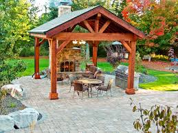 covered patio with fireplace covered patio pavilion design construction in spokane coeur d