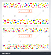 voucher gift certificate template colorful bright stock