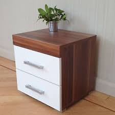 bedroom furniture bedside cabinets 2 drawer white walnut bedside cabinet table bedroom furniture